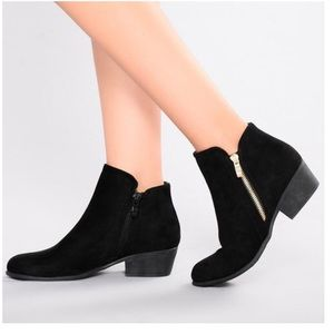 Vegan Suede Ankle Booties